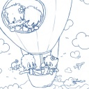 "(Thumbnail of ""Colouring Pages - Hot Air Balloon"")"